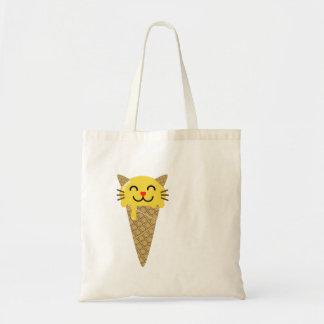 Emoji Icecream Cat Tote Bag