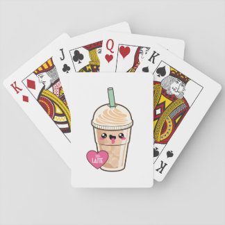 Emoji Iced Latte Playing Cards