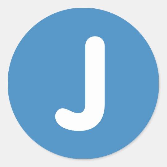 Emoji Letter J Twitter Classic Round Sticker