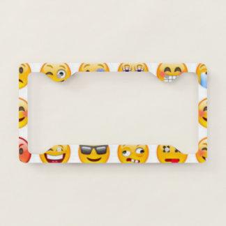 emoji licence plate frame