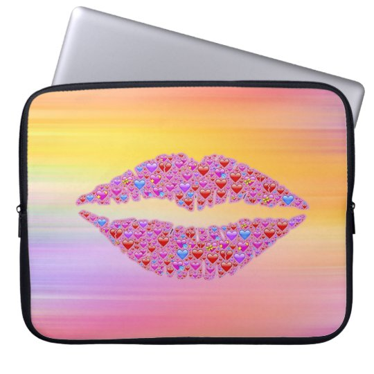 Emoji lips laptop sleeve