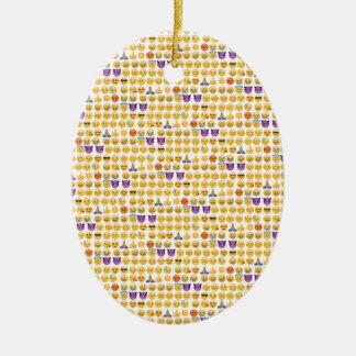 emoji overload ceramic oval decoration