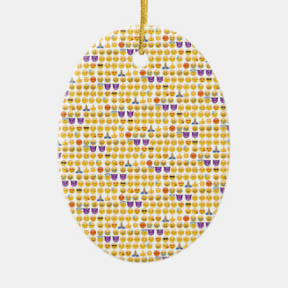 emoji overload christmas ornament