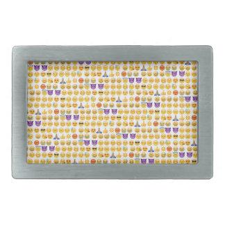 emoji overload rectangular belt buckles