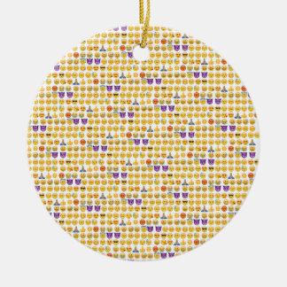emoji overload round ceramic decoration