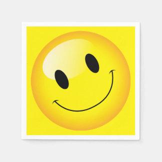 Emoji Party Cheerful Smiley Emoticon Happy Face Paper Serviettes