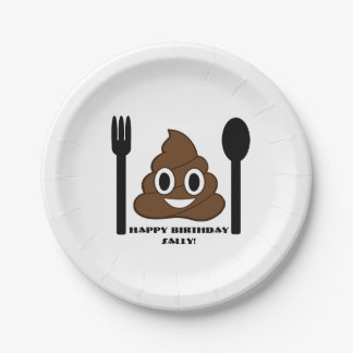 Emoji Party Plates 7 Inch Paper Plate