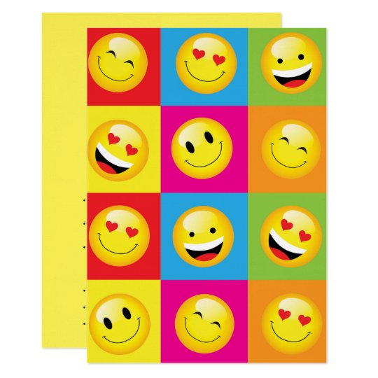 Emoji Party Smilie Faces Acid House Rave Night