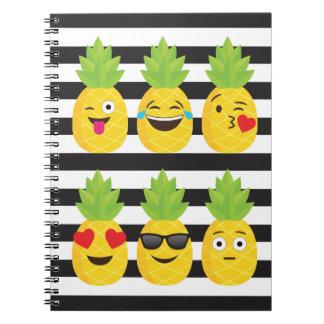emoji pineapple notebook