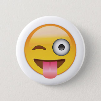 Emoji - Smiley Face With Tongue 6 Cm Round Badge
