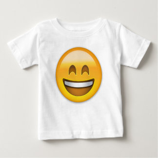 Emoji Smiling Face Open Mouth And Smiling Eyes Baby T-Shirt
