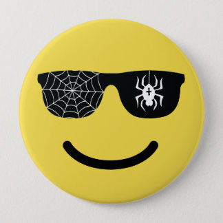 Emoji Smiling Face with Sunglasses Funny Halloween 10 Cm Round Badge