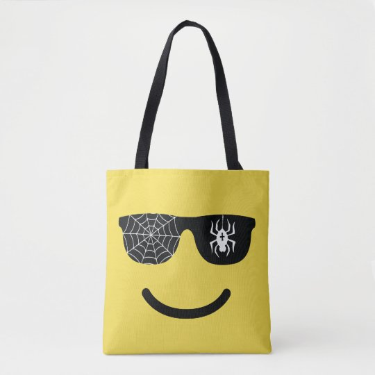 Emoji Smiling Face with Sunglasses Halloween Treat Tote