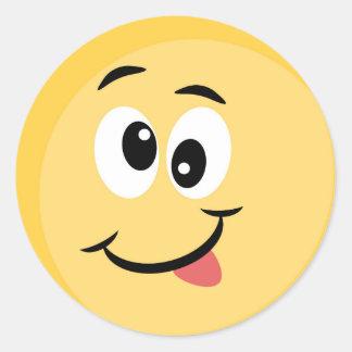 Emoji Sticker with Happy Face