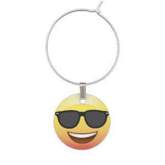 Emoji Sunglasses Funny Wine Charm