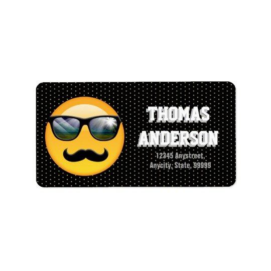 Emoji Super Shady ID230 Address Label