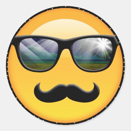 Emoji Super Shady ID230 Classic Round Sticker
