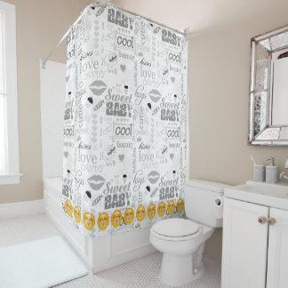 Emoji Sweet Baby ID231 Shower Curtain
