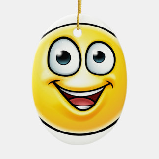 Emoji Thumbs Up Icon Ceramic Oval Decoration