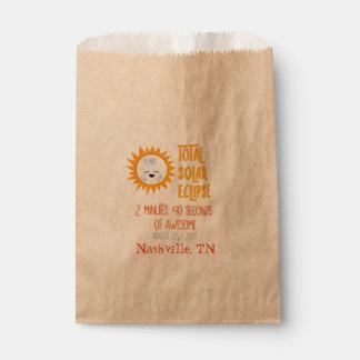 Emoji Total Solar Eclipse Favor Bag with Location