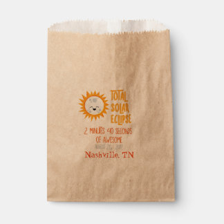 Emoji Total Solar Eclipse Favour Bag with Location