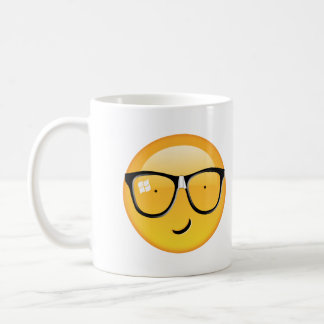Emoji Totally Techie ID229 Basic White Mug