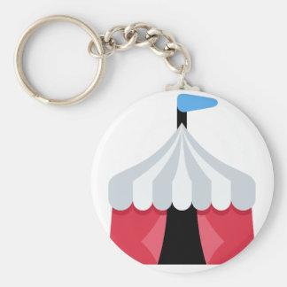 Emoji Twitter - Circus Tent Basic Round Button Key Ring