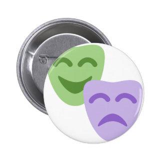 Emoji Twitter - Drama Theater 6 Cm Round Badge