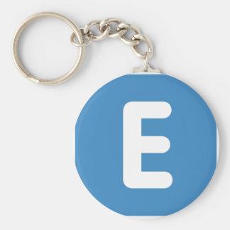 emoji Twitter - Letter E Key Ring