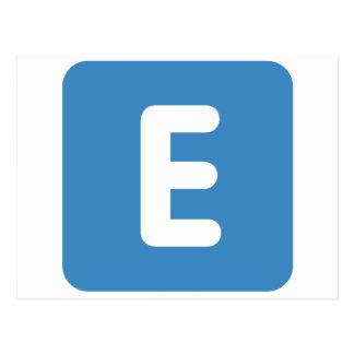 emoji Twitter - Letter E Postcard