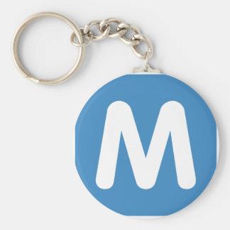 Emoji Twitter - Letter M Key Ring