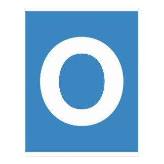 Emoji Twitter - Letter O Postcard
