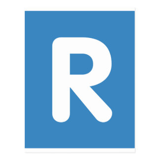 Emoji Twitter Letter R Postcard