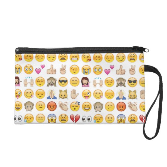 emoji wristlet purse bag
