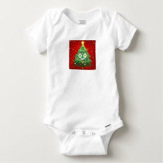 Emoji Xmas Tree Design Baby Onesie