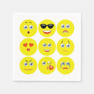 Emojis Disposable Serviettes