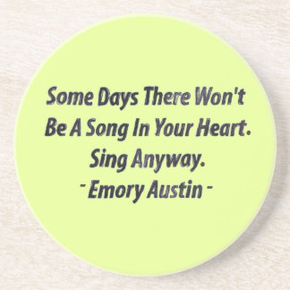 Emory Austin Inspirational Quote Motivational Word Beverage Coasters