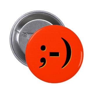 Emote-o-Lantern - orange 6 Cm Round Badge