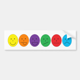 Emote Yourself Car Bumper Sticker