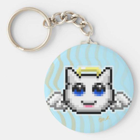 Emoticon #1 basic round button key ring
