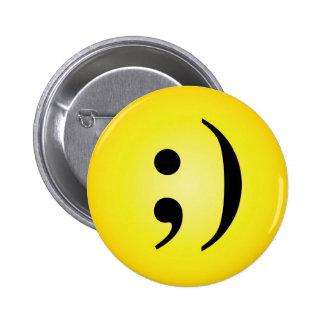Emoticon 6 Cm Round Badge