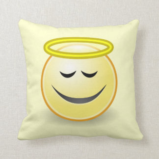 Emoticon Angel Cushion