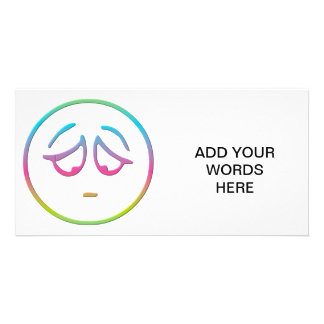 Emoticon Dejected Photo Card Template