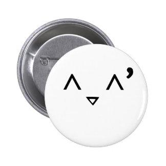 Emoticon: Embarrassed 6 Cm Round Badge