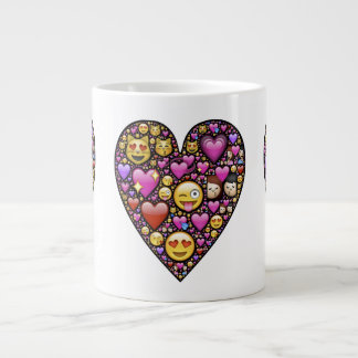 Emoticon Heart Extra Large Mug