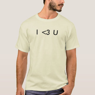 Emoticon I Love You T-Shirt