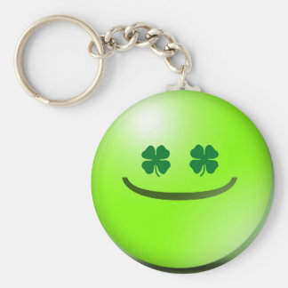 Emoticon Irish St Patricks Day Grin Keychain
