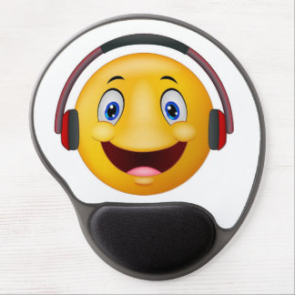 Emoticon listening music gel mouse mat
