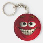 Emoticon Red Keychains