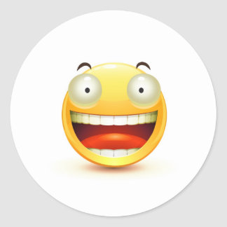 Emoticon Round Sticker